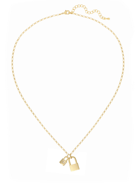 Five and Two Penny Necklace - 18K Gold
