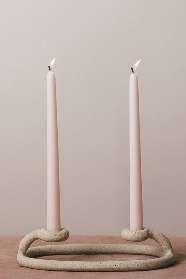 Sin Speckled Duo Candlestick - Speckled
