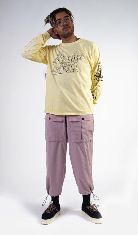 Brain Dead Leon's Girls Long sleeve Tee - Yellow