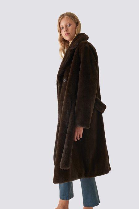 Stand Studio Brown Faustine Coat - Brown