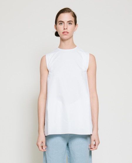 Gary Bigeni Safil Fold Top in White
