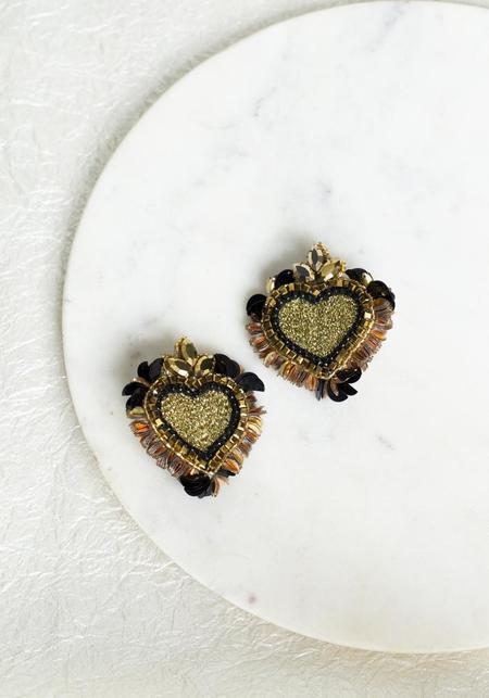 Olivia Dar Noto Earrings - Black