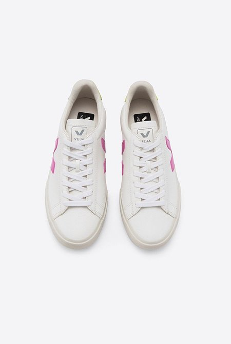 VEJA Campo Easy Sneakers - Extra White/Ultraviolet Juane-Fluo