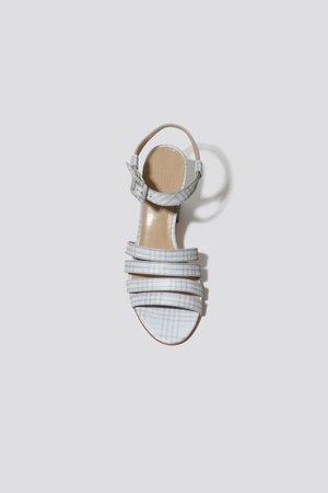 Maryam Nassir Zadeh Plaid Palma Sandal - reflective plaid