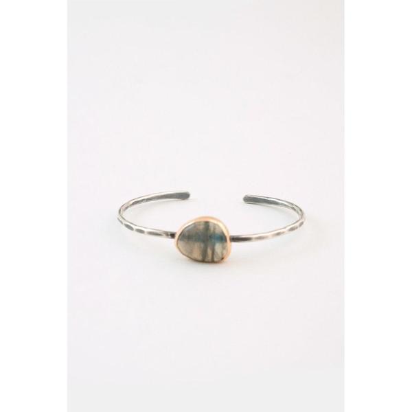 Melissa Joy Manning Freeform Labradorite Cuff Bracelet - 14K Gold