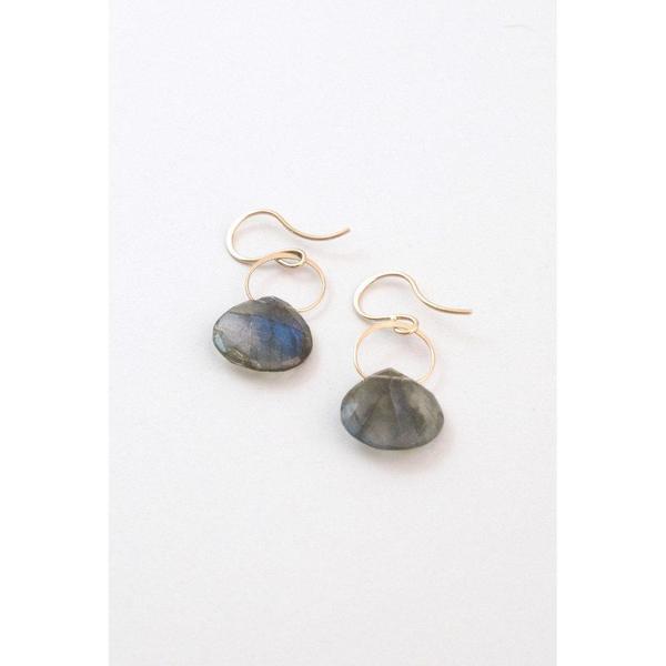 Melissa Joy Manning Labradorite Drop Earrings - 14K Gold