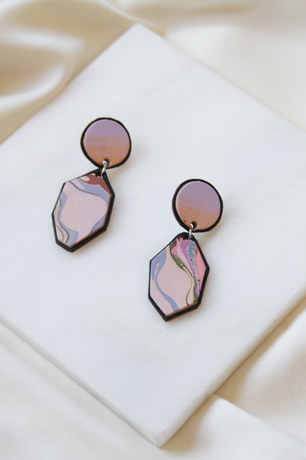 Molly Virginia Made Marbled Earrings