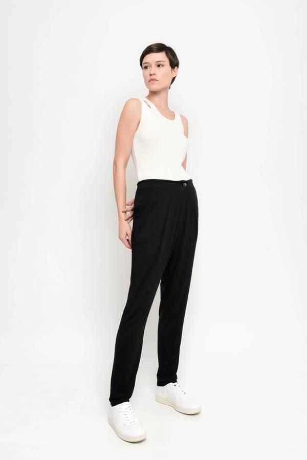 Uma Raquel Davidowicz Adams Crossover Loose Pants - Black