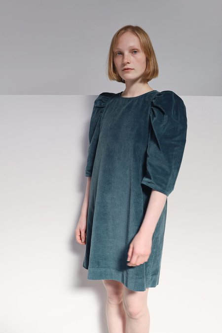 WHiT CLARE DRESS - CORDUROY MOSS