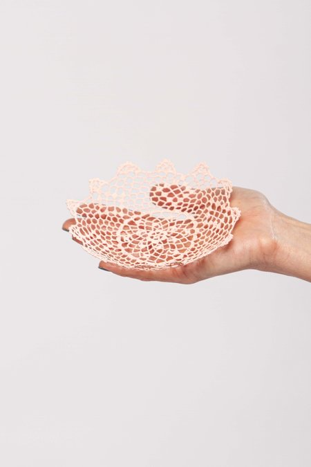 Neonette lace bowl - Light pink