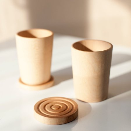 Elise McLauchlan Wooden Cups And Coasters