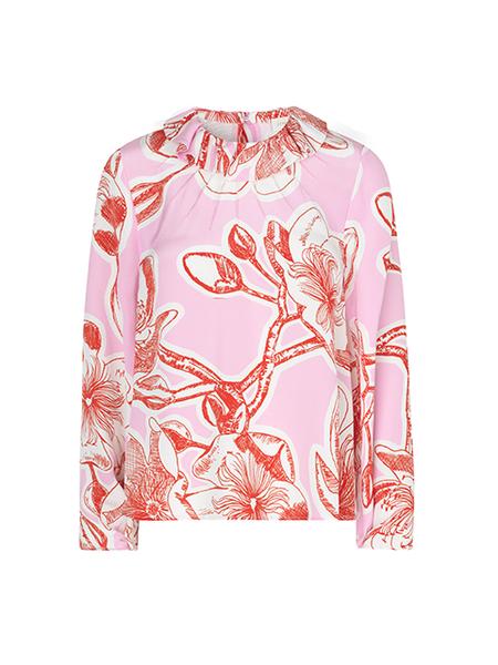 STINE GOYA Poppy Silk Top - Jasmine Pink