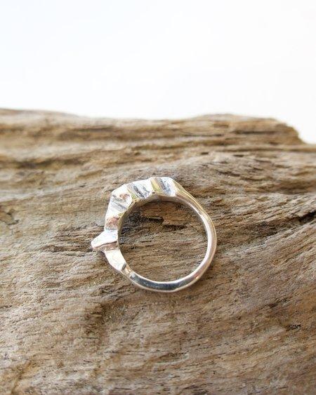 Olivia Kathigitis Erosion Ring - Silver