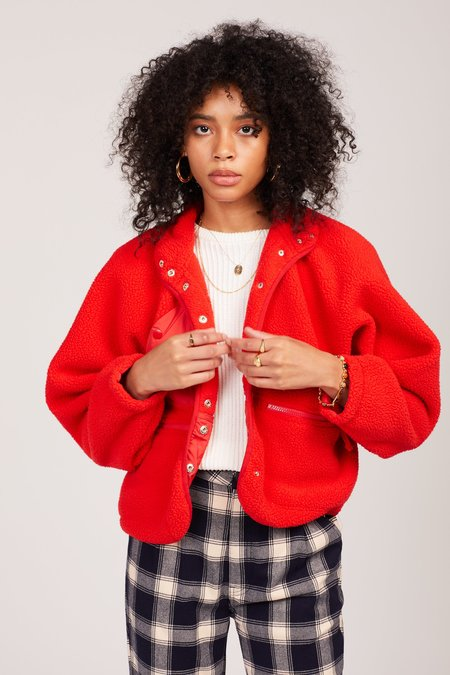 Free People Hit The Slopes Jacket - Red