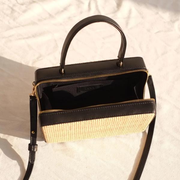 INNÉ Studios Guita Mini Box Bag - Black