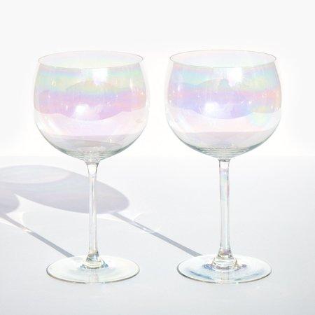 Kindred Black Dorothy Thorpe Wine Glasses - Iridescent