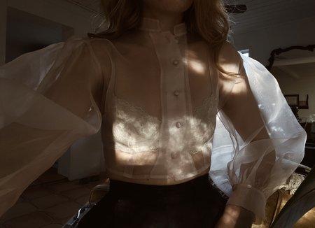 Hannah Kristina Metz helen blouse - blush