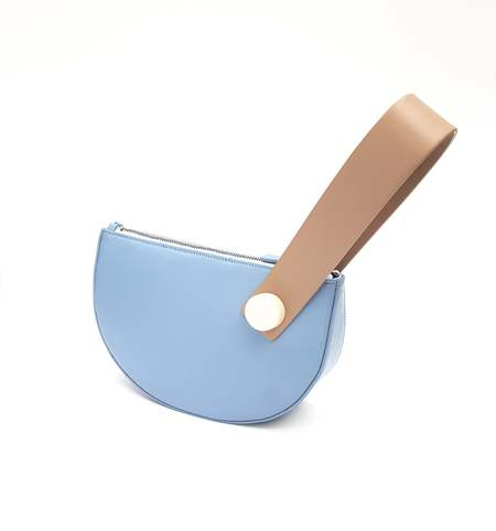 Matter Matters Mini Half Moon Clutch - Baby Blue