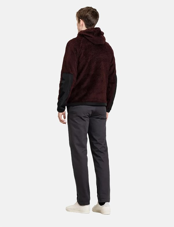 Norse Projects Tycho Hood Fleece - Mulberry Red