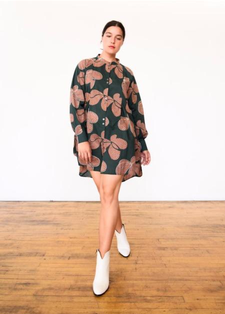 Seek Collective Sonia Dress - Fern Hilma Print