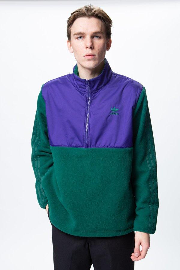 Adidas Winterized Half Zip Collegiate GreenCollegiate Purple on Garmentory