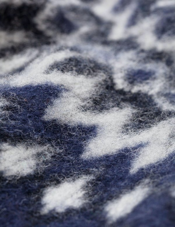 Norse Projects Birnir Fairisle Knitted Sweater - Charcoal Melange