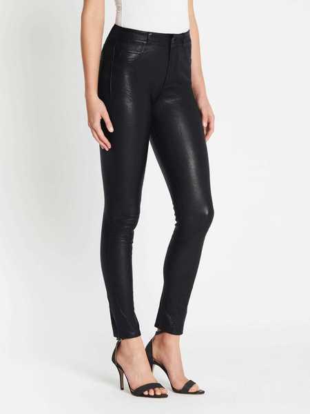 Paige Hoxton Stretch Leather Pant - Black