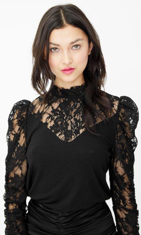 Generation Love Tamra Lace LS Top - Black