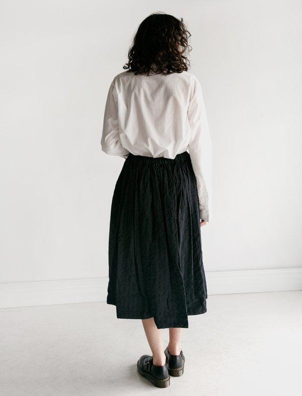 Comme des Garçons Dobby Stripe Easy Skirt - Black