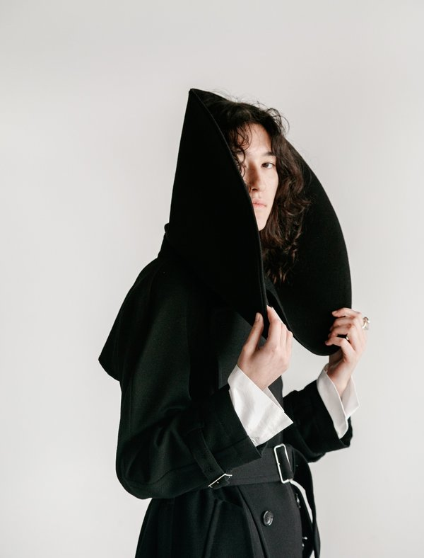 Comme des Garçons Oversized Collar Trench Coat - Black