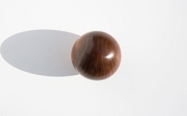Kindred Black Bruce Perlmutter Hand Lathed Walnut Orb