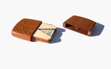 Kindred Black Leopardwood Card Case