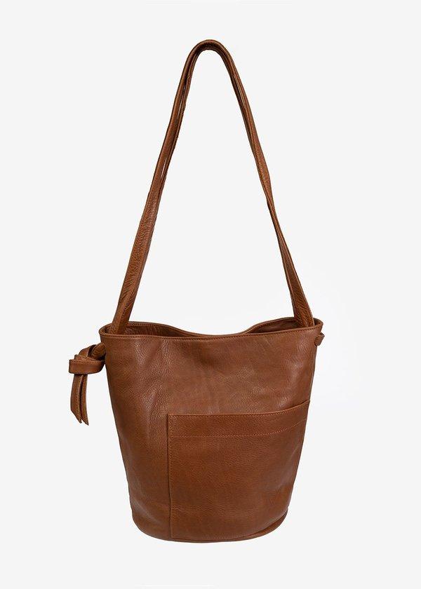 Erin Templeton Crossbody Bucket Bag - Caramel