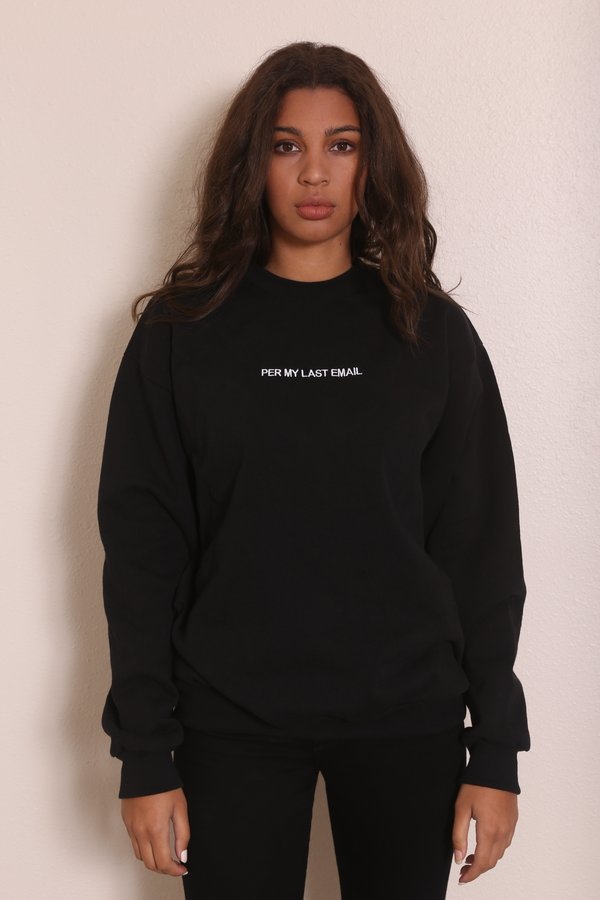 "unisex ""INTENTIONALLY __________."" PER MY LAST Pullover - Black"