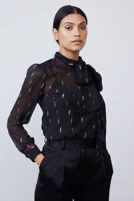Allen Schwartz Serafina Blouse with Cami Liner - Black