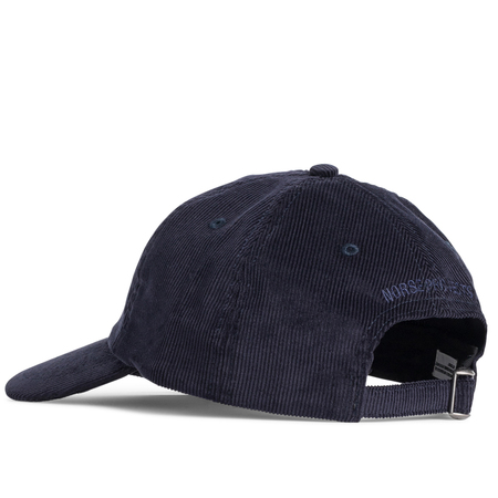Norse Projects thin cord sports cap - Dark Navy