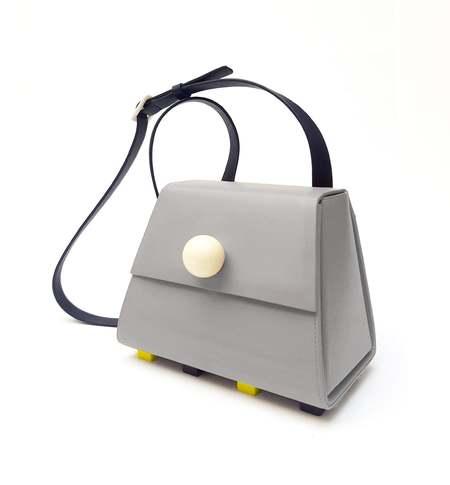 Matter Matters The Mini Trapezoid Shoulder Bag - Grey
