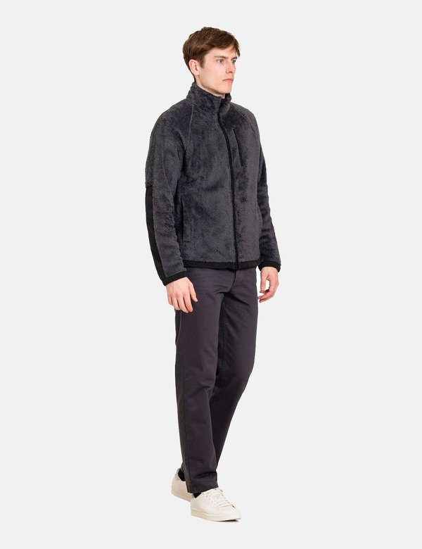 Norse Projects Tycho Zip Fleece Jacket - Slate Grey