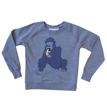 kids Tao & Friends Gorilla Sweatshirt - grey