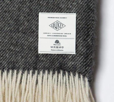 Low Key Goods Wool Blanket - Three Stripes Pattern