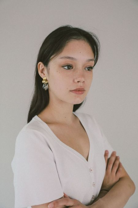 Wolf Circus Ash Clear Earrings - gold