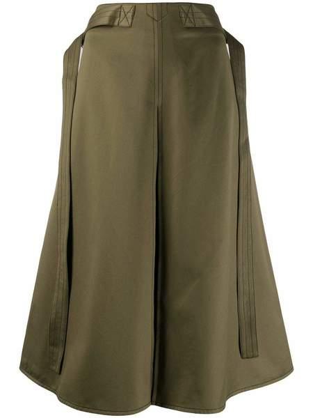 Marni A-Line Cotton Skirt - Dark Olive
