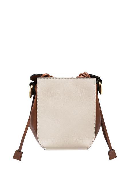 MARNI Gusset Shoulder Bag - Tan/Bone