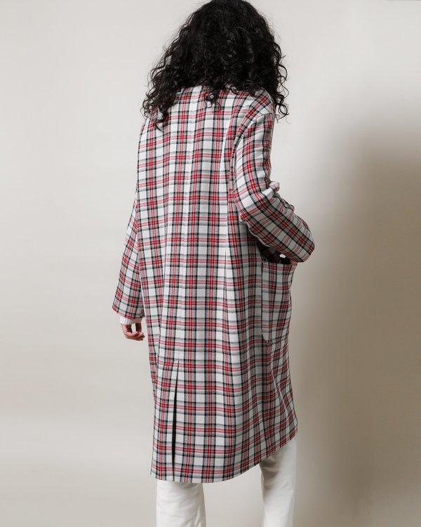 Munthe Jarl Coat - Red Plaid