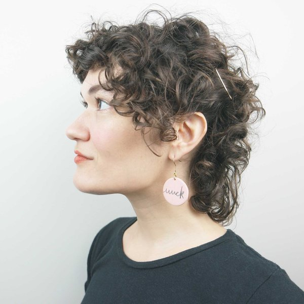 Ceramics and Theory Fuuuucking Earrings - Pink