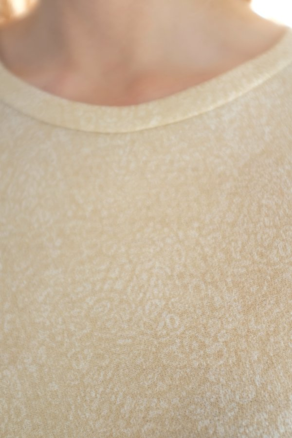 Beklina Merino T-Shirt - Animal Print Tan