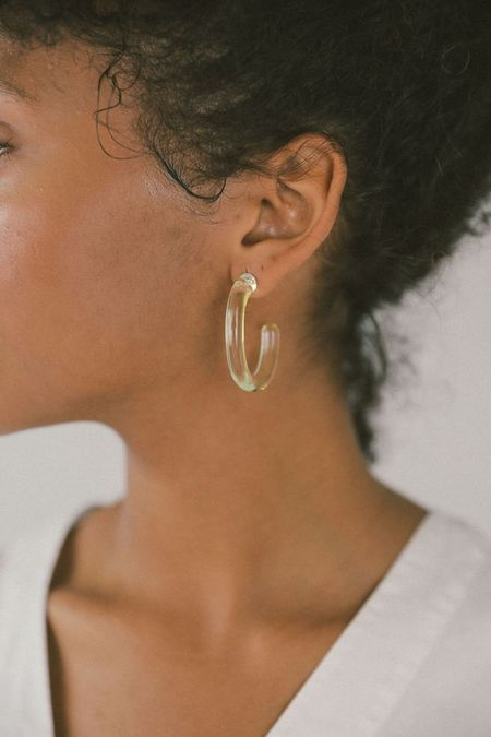 Wolf Circus Large Glass Hoops - Yellow