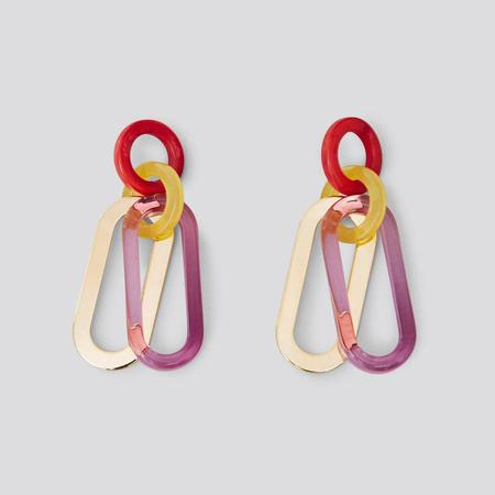 Diamond Dream Jewelry + Apparel Rachel Comey Sour Earrings - Clear Purple Multi Acrylic