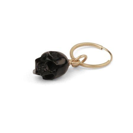M. COHEN Horn Skull On Loop - Gold/Black