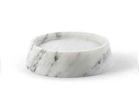 Atipico Tellus Carrara Marble Candle Holder Dish